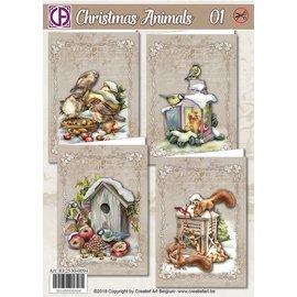 Creatief Art Animaux de Noël 01