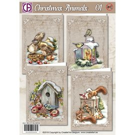 Creatief Art Christmas Animals 01