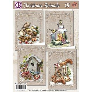 Creatief Art Weihnachtstiere 01