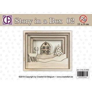 Creatief Art Histoire dans une boîte 02