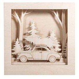 Auto met Kerstboom