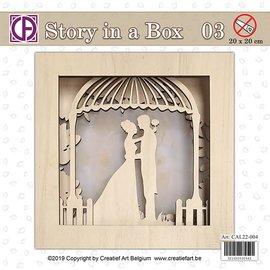 Creatief Art Histoire dans une boîte 03