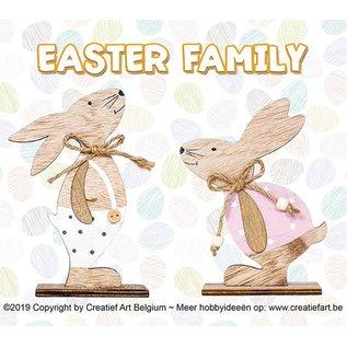 """Creatief Art Easter Family """"Konijnen"""""""