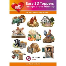 Hearty Crafts Easy 3D Topper - Farm