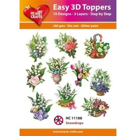 Hearty Crafts Easy 3D Topper - Snowdrops