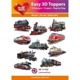 Hearty Crafts Easy 3D Topper - Locomotives