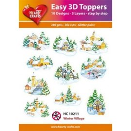 Hearty Crafts 3D topper - village d'hiver