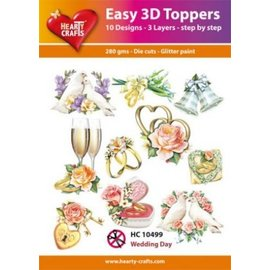 Hearty Crafts 3D-Topper - Hochzeitstag