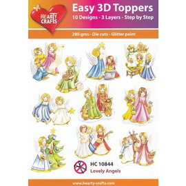 Hearty Crafts Easy 3D Topper - Les beaux anges