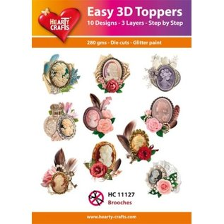 Hearty Crafts Easy 3D Topper - Broschen