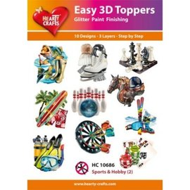 Hearty Crafts Easy 3D Topper - Sport und Hobby 2