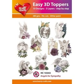 Hearty Crafts Easy 3D Topper - Des anges pour la sympathie