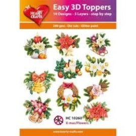 Hearty Crafts Easy 3D Topper - Weihnachtsblumen