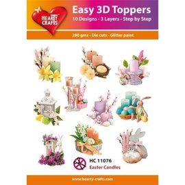 Hearty Crafts Easy 3D Topper - Easter Candle