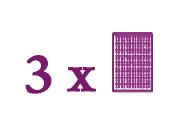 Paquets composés de 3 plaques de base