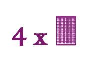 Packungen bestehend aus 4 Grundplatten