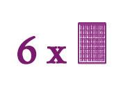 Paquets composés de 6 plaques de base