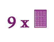 Packungen bestehend aus 9 Grundplatten