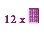 Paquets composés de 12 plaques de base