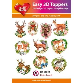 Hearty Crafts 3D Topper Deer - Wald