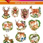 Hearty Crafts 3D-Topper Deer - Forest