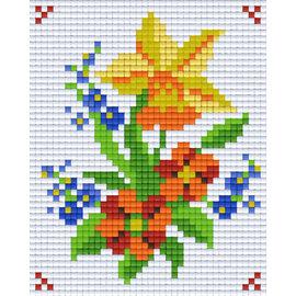 Creatief Art Pixelhobby 2 Assiettes Cheval Sur Clôture