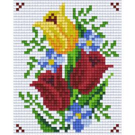 Pixel Hobby Pixelhobby 1 Basisplaat Bloem 06