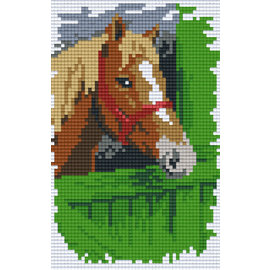 Pixel Hobby Pixelhobby 2 Bodenplatten Pferd auf Zaun