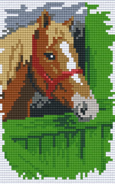 Pixelhobby 2 Assiettes Cheval Sur Clôture