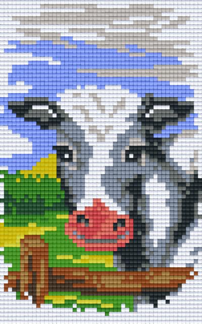 Pixelhobby 2 Plaques De Base Vache Sur Clôture