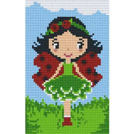Pixel Hobby Pixelhobby 2 Grundplatten Marienkäfer Mädchen