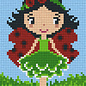 Pixel Hobby Pixelhobby 2 Basisplaten Lieveheersbeestje meisje