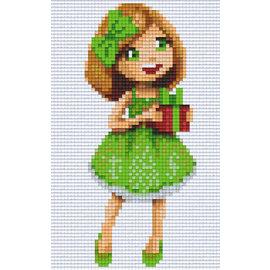 Pixel Hobby Pixelhobby 2 Grundplatten Mädchen mit Geschenk