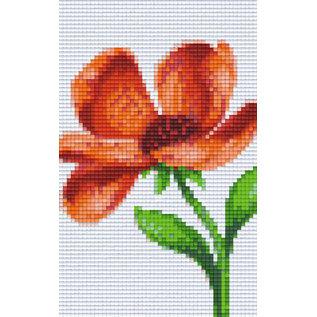 Pixel Hobby Pixelhobby 2 Basisplaten  Oranje Bloem