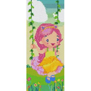 Pixel Hobby Pixelhobby 3 Basisplaten  Meisje op schommel