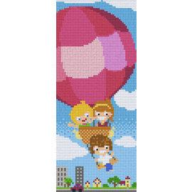 Pixel Hobby Pixel hobby 3 Plaques de base Enfants en montgolfière