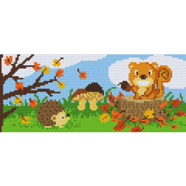 Pixel Hobby Pixelhobby 3 Bodenplatten Tiere im Wald