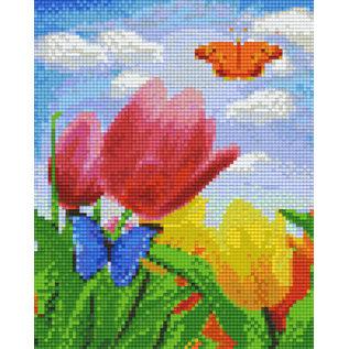 Pixel Hobby pixelhobby 4 Basisplaten - Bloemen en vlinder
