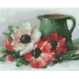 Pixel Hobby pixel hobby 4 assiettes de base - Fleurs avec pichet