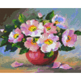 Pixel Hobby pixelhobby 4 Grundplatten - Blumen im Topf