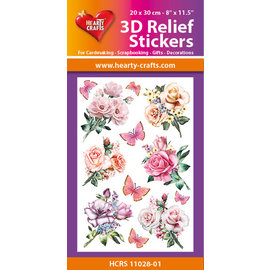 Hearty Crafts Autocollant 3D en relief - Roses