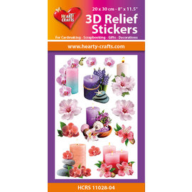 Hearty Crafts Autocollant 3D en relief - Bougies