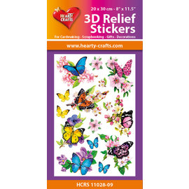 Hearty Crafts Autocollant 3D en relief - Papillons