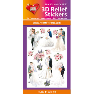 Hearty Crafts 3D Reliëf Sticker - Wedding