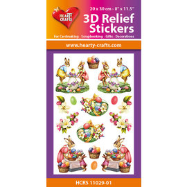 Hearty Crafts 3D Reliëf Sticker - Easter