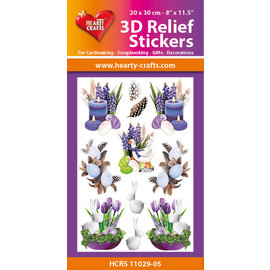 Hearty Crafts 3D Reliëf Sticker - Easter Candles
