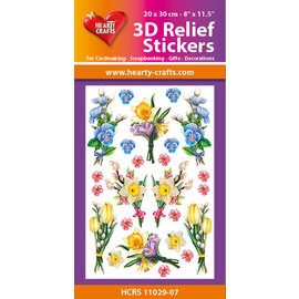 Hearty Crafts 3D Reliëf Sticker - Flowers