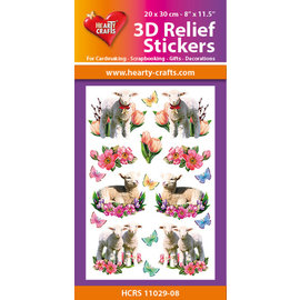 Hearty Crafts 3D Reliëf Sticker - Lambs