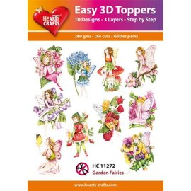 Hearty Crafts Easy 3D Topper - Garden fairies