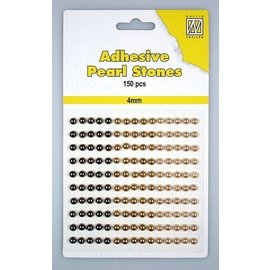 Nellie Snellen Perles adhésives 3 Nuances de Brown 4mm